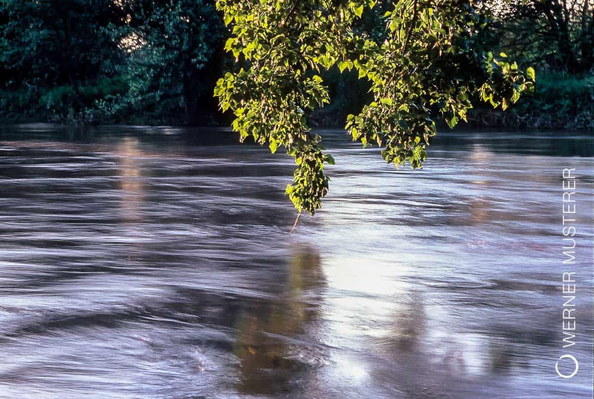 Die Leine bei Hochwasser