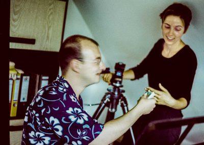 Offen, herzlich, liebenswert –hier »schäkert« Willi mit Fotoassistentin Nadine.