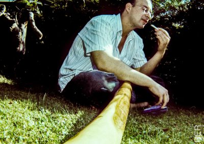 … wie hier dem Didgeridoo, …