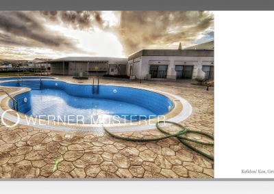 Postkarte Pool